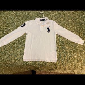 ✨Brand new🌟 White long sleeve polo shirt